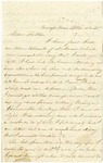 Letter from Robert Patterson to his father Jefferson Patterson on December 21, 1861