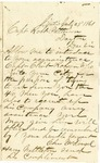 Letter from Chas McDougal  to Robert Patterson dated July 29, 1861