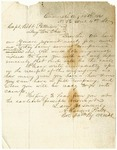 Letter from Colonel A. Sanders Piatt to Captain Robert Patterson dated August 14, 1861