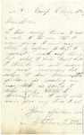 Letter from Stephen Patterson to his mother Julia,  written in 1862