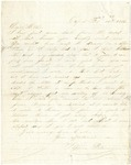 Letter from Stephen Patterson to his mother Julia on February 14, 1862