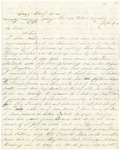 Letter from William Patterson to his mother Julia Patterson written February 9, 1862