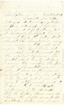 Letter from John H. Patterson to his mother Julia dated October 25, 1862