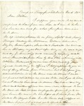Letter from Robert Patterson to his mother Julia on October 4, 1863