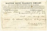 Western Union telegram from William Patterson to his father Jefferson Patterson dated February 17, 1862