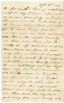 Letter from William Patterson to his mother Julia on September 6, 1863