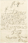 Letter from J.D. Sharp to Stephen Patterson, dated March 6, 1863 by J. D. Sharp