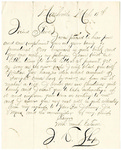 Letter from J.D. Sharp to Stephen Patterson, dated March 18, 1863