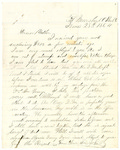 Letter from John H. Patterson to his mother Julia on June 28, 1864