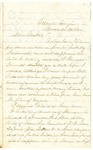 Letter from Robert Patterson to his mother Julia dated November 8, 1864
