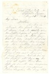 Letter from William L. Patterson to his mother Julia dated May 21, 1864