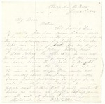 Letter from William Patterson to his mother, Julia dated June 21, 1864
