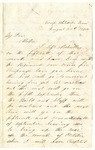 Letter from William Patterson to his mother Julia on August 20, 1864
