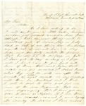 Letter from William Patterson to his mother Julia dated August 26, 1864