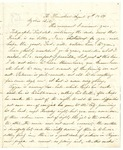 Letter from Rachel Reynolds to William Patterson dated August 8, 1864