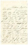 Letter to Eliza from an unidentified person, dated August 2, 1864