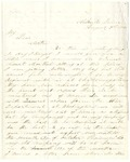 Letter from William Patterson to his mother Julia on August 7, 1864