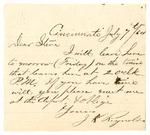 Letter to Stephen Patterson from J.K. Reynolds dated July 7, 1864