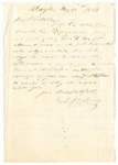 Letter to Julia Patterson from L.N. Jones dated May 17, 1864