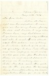 Letter to Julia Patterson from Elizabeth Jones dated May 20, 1864