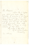 Letter to a Mr. Patterson from Alice Winters, dated November 15, 1864