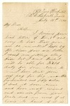 Letter from William Patterson to his mother Julia dated July 16, 1864