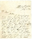 Letter from William Patterson to his mother Julia dated July 13, 1864