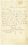 Letter to Robert Patterson from a friend dated November 9, 1865