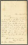 Letter to Julia Patterson from Mary Johnston dated August 19, 1865