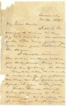 Letter to Julia Patterson from her nephew Frank Jones on November 30, 1865