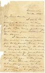 Letter to Julia Patterson from her nephew Frank Jones on November 30, 1865 by Frank J. Jones