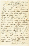 Letter to Julia Patterson dated November 22, 1865 by D. Johnson
