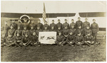 91st Squadron with banner