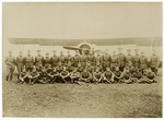 91st Squadron in front of airplane
