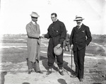 Claude Grahame-White, Baron Roman Rosen, and George von Lengerke Meyer at the Harvard-Boston Aero Meet, September, 1910