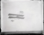 Charles Foster Willard flying a Curtiss aircraft at the Harvard-Boston Aero Meet, September, 1910