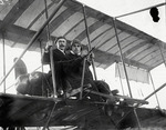 Claude Grahame-White and Anthony Philpott in a Farman biplane at the Harvard-Boston Aero Meet, September, 1910