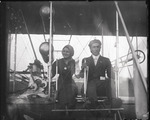 George Beatty and Genevieve O'Hagan in a Wright Model A Flyer at the Harvard-Boston Aero Meet, August - September, 1911