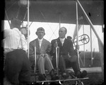Eugene Ely and George Beatty at the controls of a Wright Model A Flyer at the Harvard-Boston Aero Meet, August - September, 1911