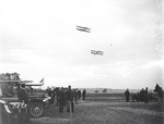 Walter Brookins and Ralph Johnstone flying at the Harvard-Boston Aero Meet, September, 1910