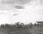 Two Wright Model B Flyers flying at the Harvard-Boston Aero Meet, August - September, 1911