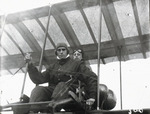Claude Grahame-White and Catherine Reed in a Farman biplane at the Harvard-Boston Aero Meet, September, 1910