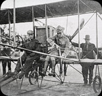 Charles Foster Willard and Jacob Earl Fickel in a Curtiss aircraft at the Harvard-Boston Aero Meet, September, 1910