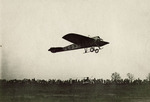 Claude Grahame-White flying a Nieuport monoplane at the Harvard-Boston Aero Meet, August - September, 1911