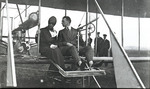 Thomas Sopwith and Gwendolyn Leonard in a Wright Model A Flyer at the Harvard-Boston Aero Meet, August - September, 1911