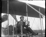 Lieutenant Thomas D. Milling at the controls of Burgess-Wright biplane at the Harvard-Boston Aero Meet, August - September, 1911