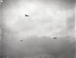 Three aircraft in flight at the Harvard-Boston Aero Meet, September, 1910