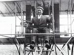John Fitzgerald, Mayor of Boston, at the controls of a Burgess-Wright biplane at the Harvard-Boston Aero Meet, September, 1910