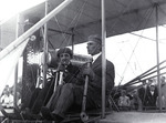 Harry Atwood and Charles Hamilton in a Wright Model A Flyer at the Harvard-Boston Aero Meet, August - September, 1911