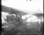 Eugene Ely piloting his Curtiss aircraft at the Harvard-Boston Aero Meet, August - September, 1911